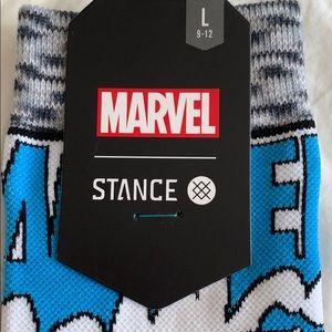 Stance NEW Men/'s Captain America Comic Socks Grey BNWT